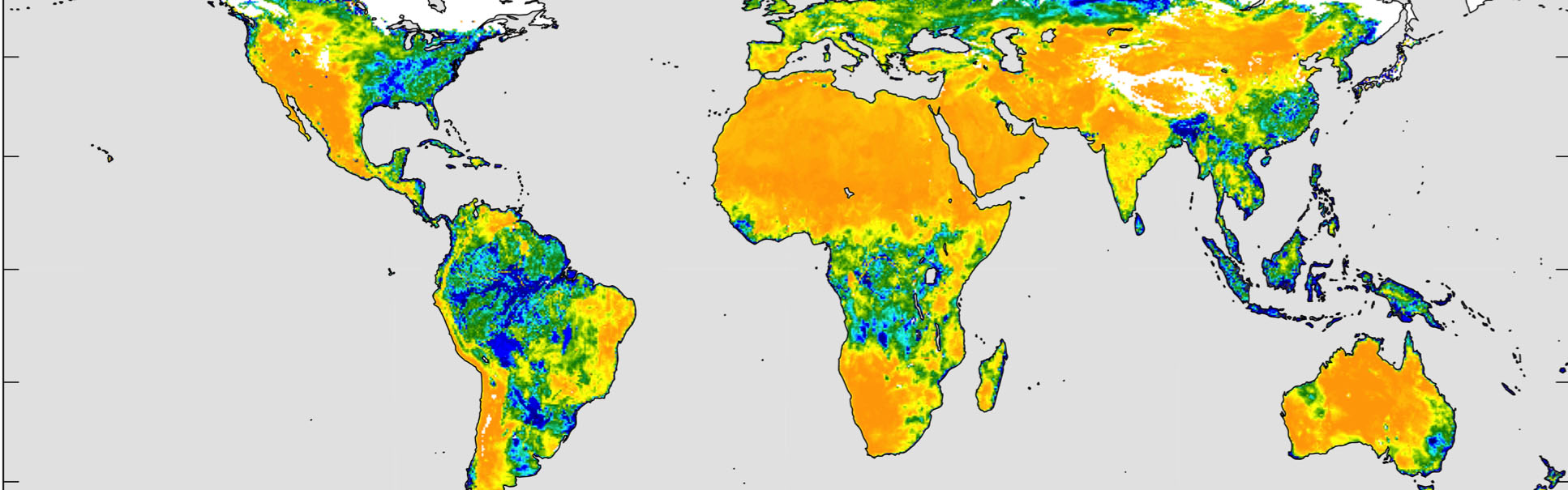 slide 5 - Maps of global soil moisture were created using data from the radiometer on NASA's Soil Moisture Active Passive (SMAP) observatory. Each image is a composite of three days of data, centered on April 15, 18 and 22, 2015.