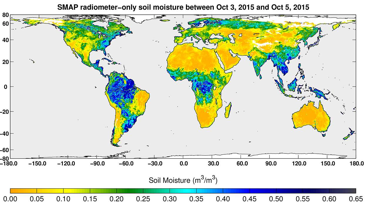 Level-2 and Level-3 radiometer data from NASA's Soil Moisture Active Passive (SMAP) mission is now available at the NASA National Snow and Ice Data Center.