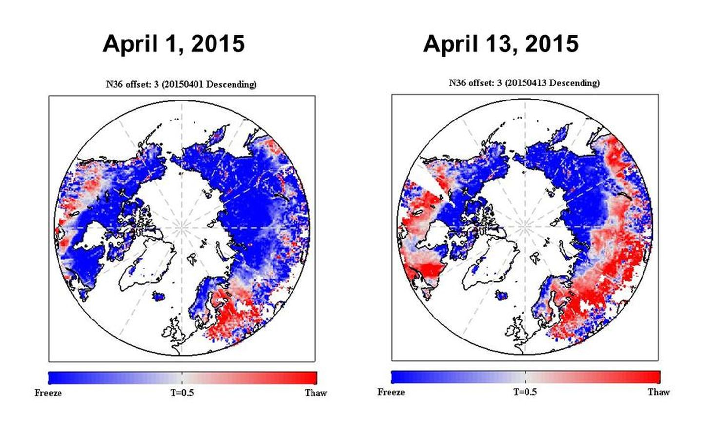 SMAP shows spring thaw progression