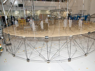 Antenna fully unfurled during test