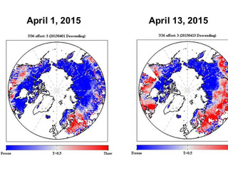 SMAP shows progression of spring thaw